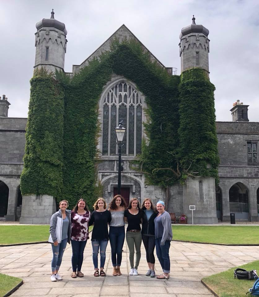 Students in Front of NUIG Quad